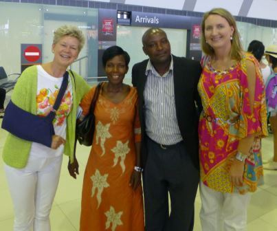 Meeting our Ugandan Candidates at the airport