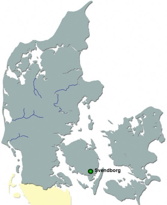 Map of Svendborg